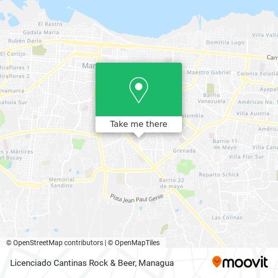 Licenciado Cantinas Rock & Beer map