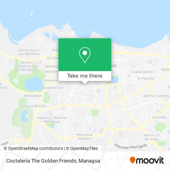 Cocteleria The Golden Friends map