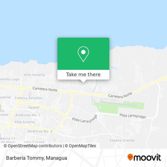 Barbería Tommy map