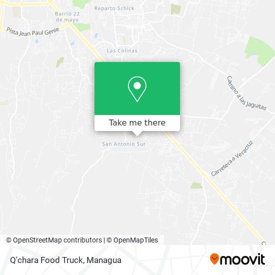 Q'chara Food Truck map