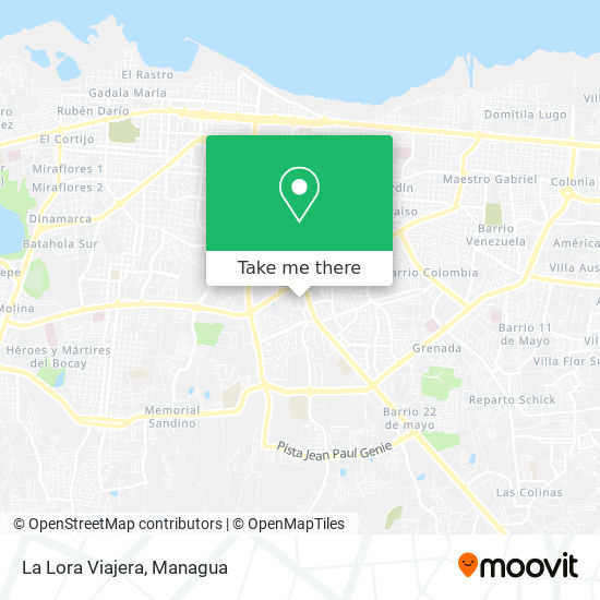 La Lora Viajera map
