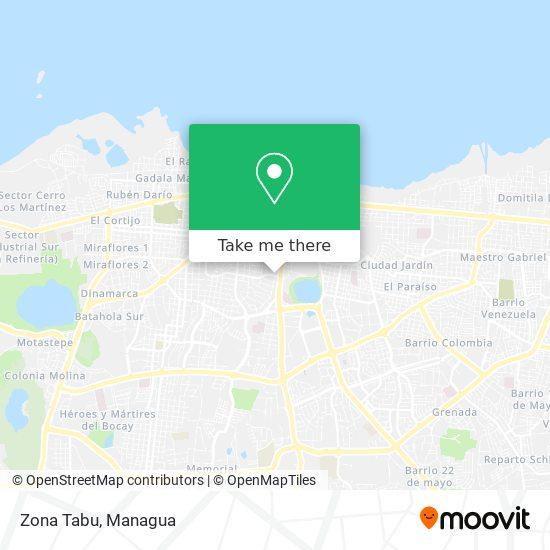 Zona Tabu map