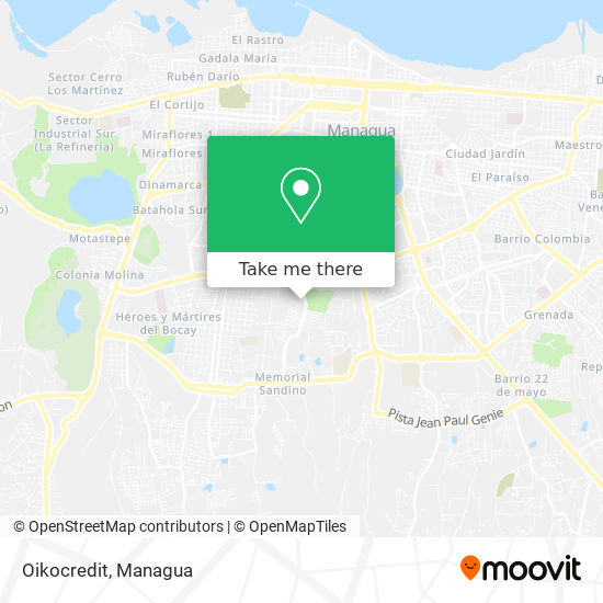 Oikocredit map