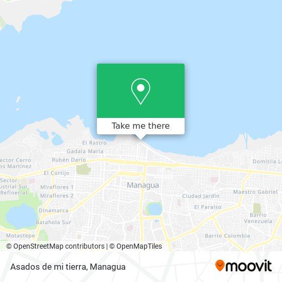 Asados de mi tierra map