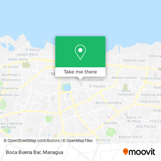 Boca Buena Bar map