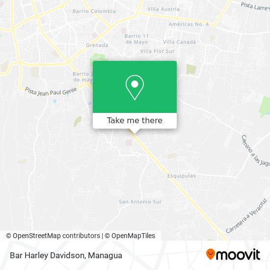 Bar Harley Davidson map