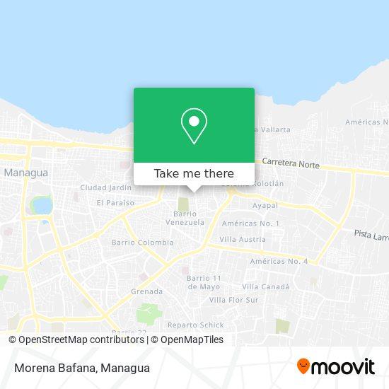 Morena Bafana map