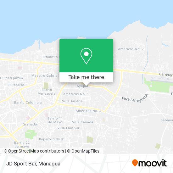 JD Sport Bar map
