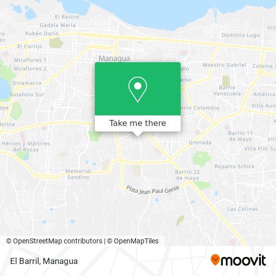 El Barril map