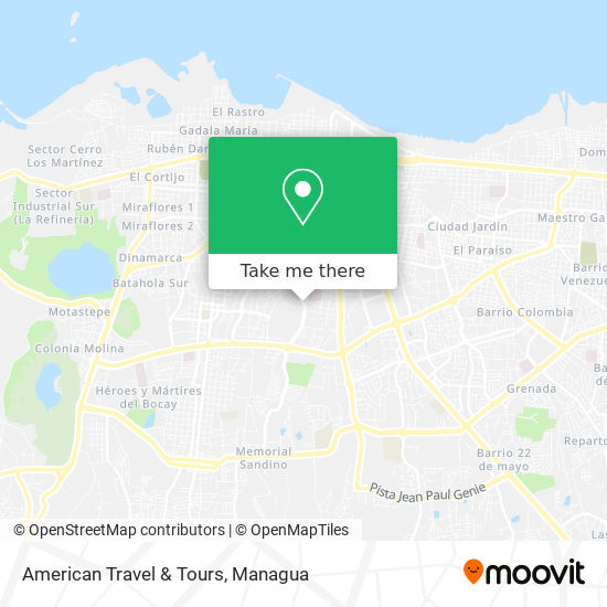 American Travel & Tours map