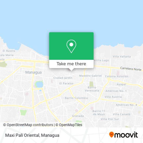 Maxi Palí Oriental map