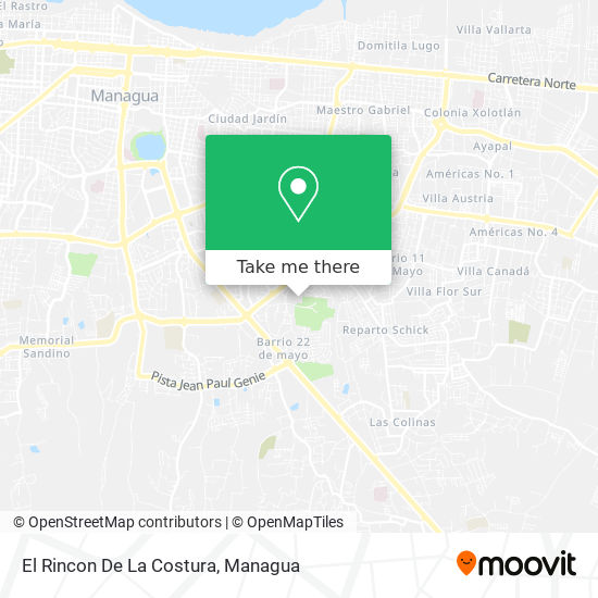 El Rincon De La Costura map