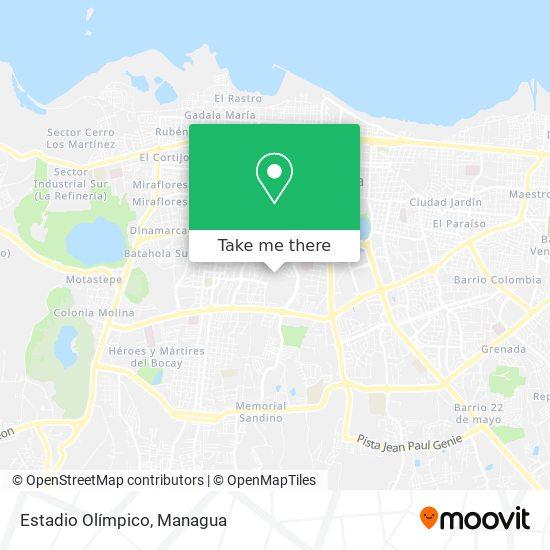 Estadio Olímpico map