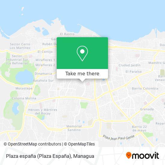 Plaza españa (Plaza España) map