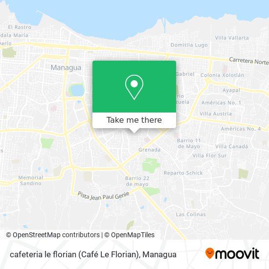cafeteria le florian (Café Le Florian) map