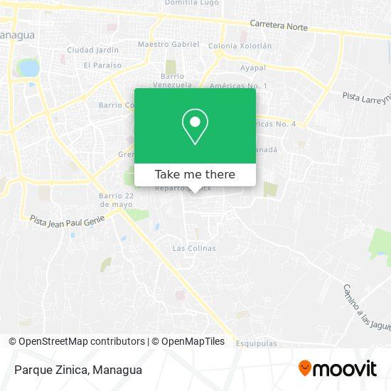 Parque Zinica map