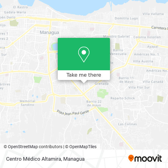 Centro Médico Altamira map
