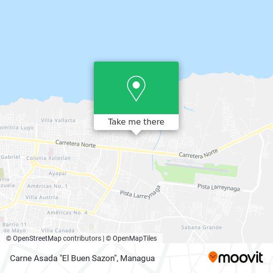 "Carne Asada ""El Buen Sazon"" map"