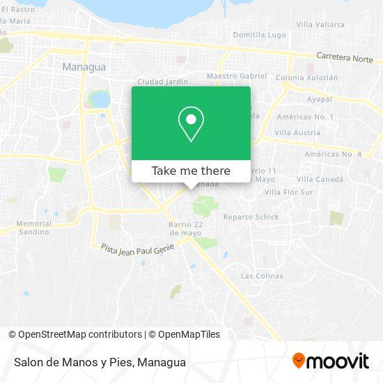 Salon de Manos y Pies map