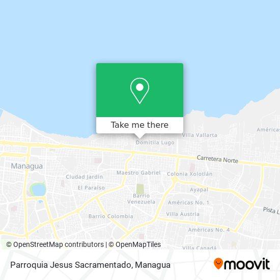 Parroquia Jesus Sacramentado map