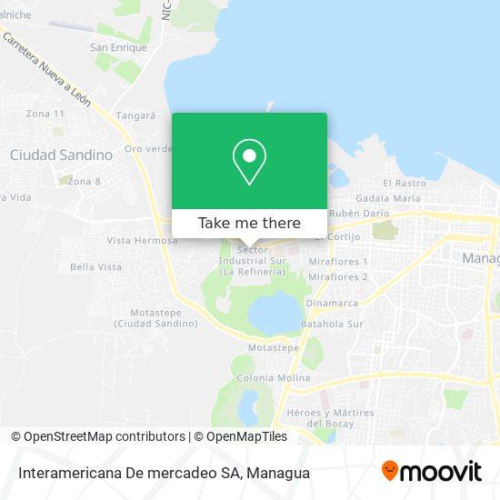 Interamericana De mercadeo SA map