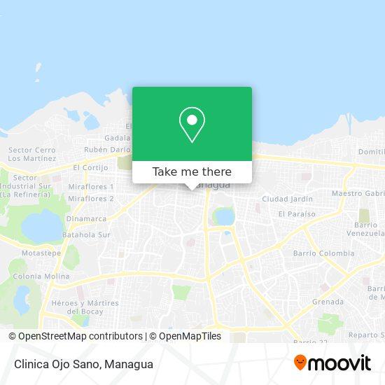 Clinica Ojo Sano map