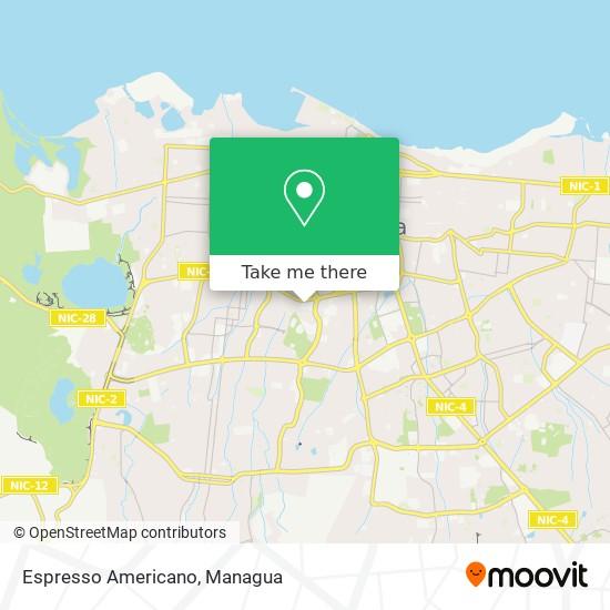 Espresso Americano map