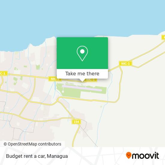 Budget rent a car map