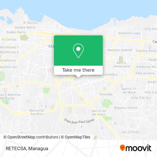 RETECSA map