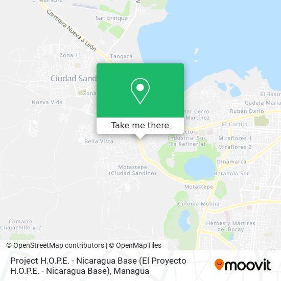 Project H.O.P.E. - Nicaragua Base (El Proyecto H.O.P.E. - Nicaragua Base) map