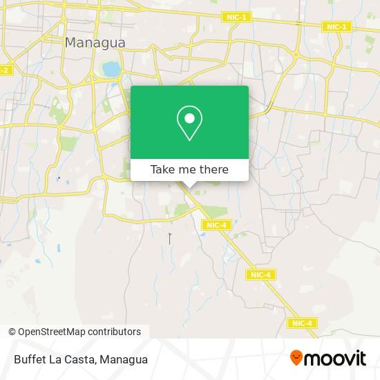 Buffet La Casta map