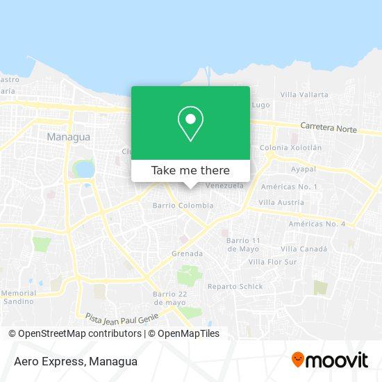 Aero Express map