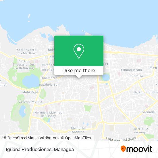 Iguana Producciones map