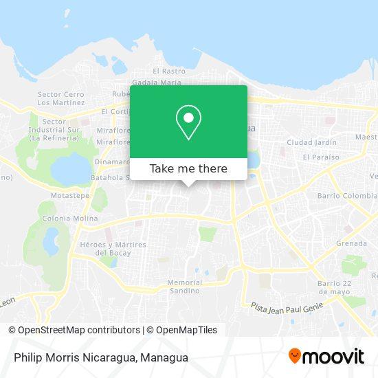 Philip Morris Nicaragua map