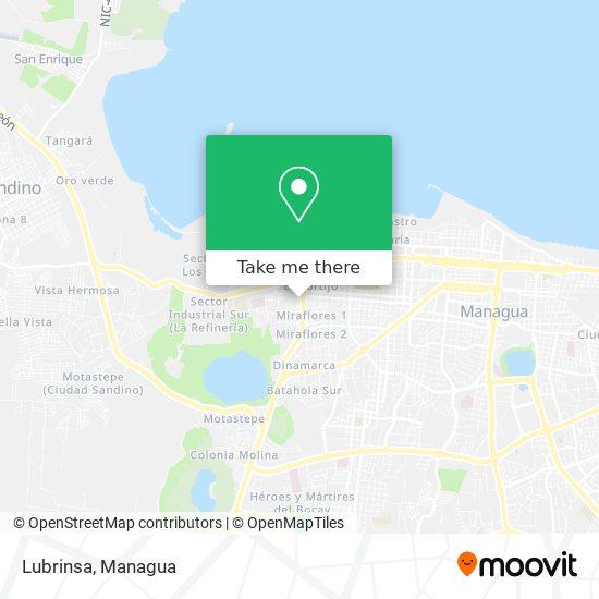 Lubrinsa map
