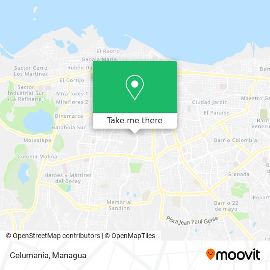 Celumania map