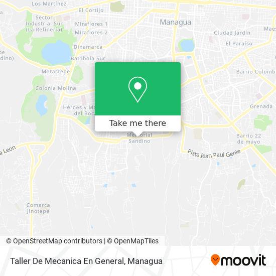 Taller De Mecanica En General map