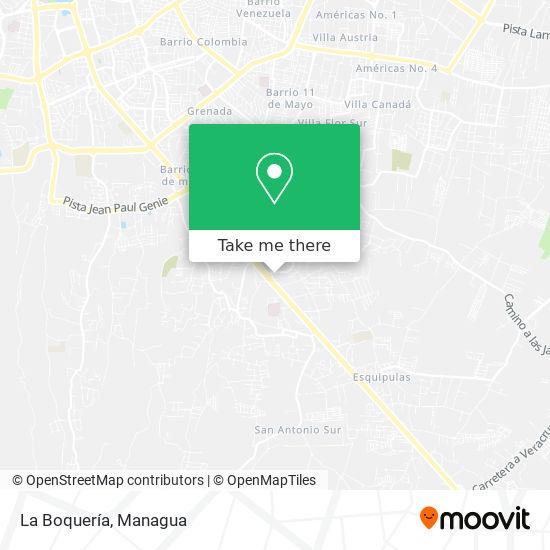 La Boquería map