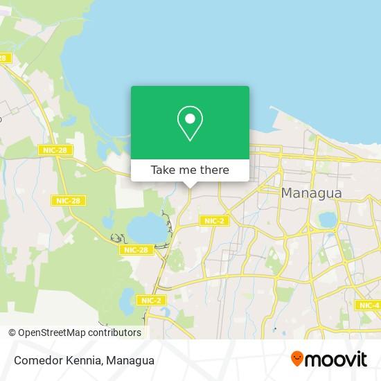 Comedor Kennia map