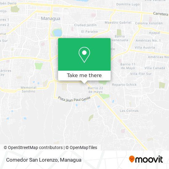 Comedor San Lorenzo map