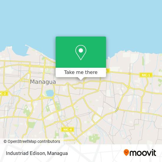 Industriad Edison map