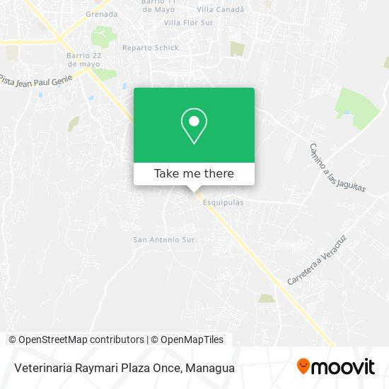 Veterinaria Raymari Plaza Once map