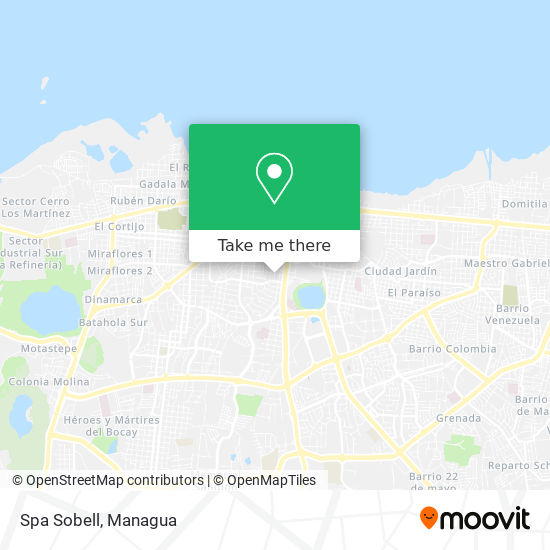 Spa Sobell map