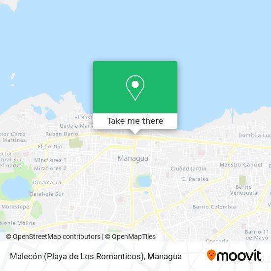 Malecón (Playa de Los Romanticos) map