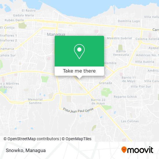 Snowko map