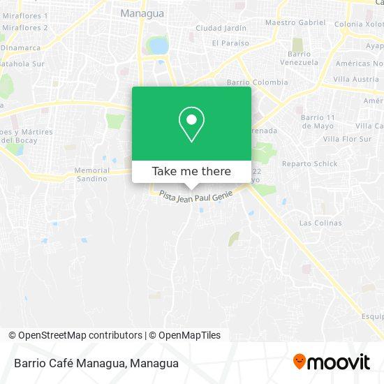 Barrio Café Managua map