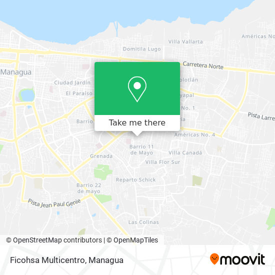 Ficohsa Multicentro map