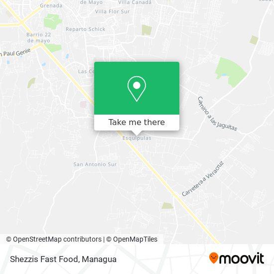 Shezzis Fast Food map