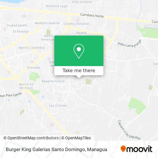 Burger King Galerias Santo Domingo map