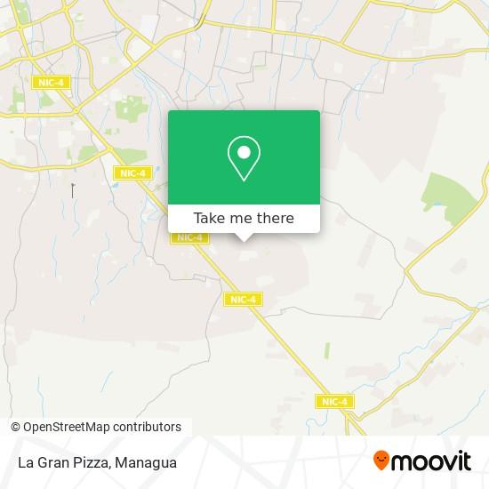 La Gran Pizza map